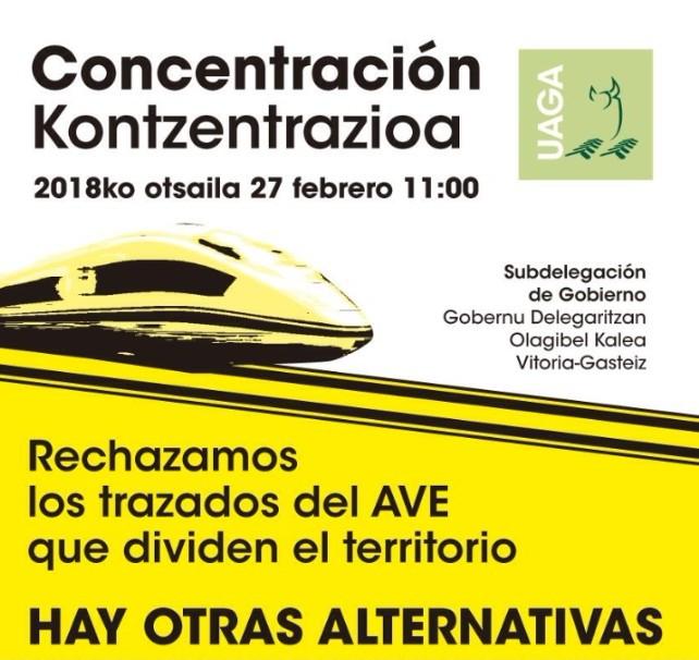 cartel para la concentración TAV
