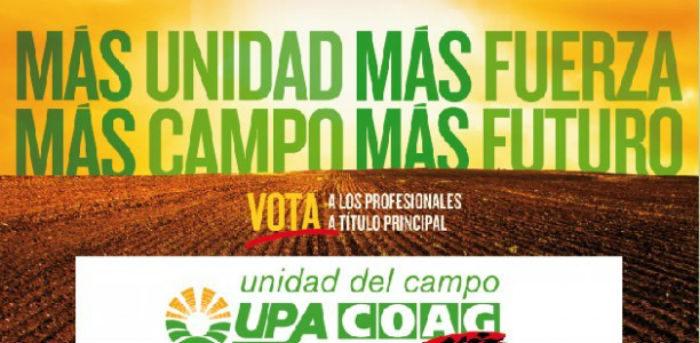 cartel de las elecciones al campo de upa y coag