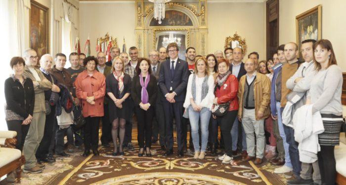 Recepción en el Ayuntamiento Vitoria