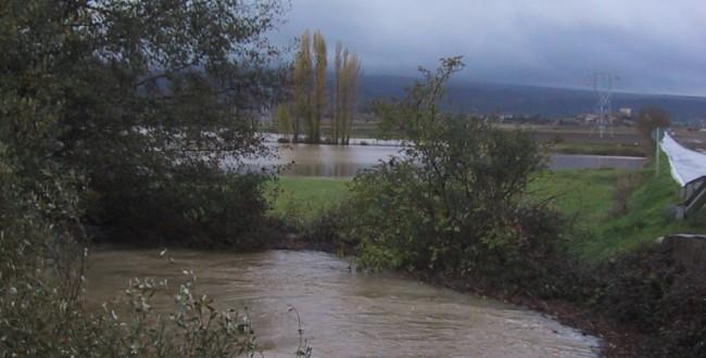rio desboradado en Estarrona