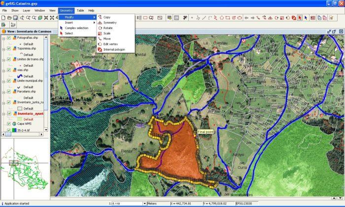 imagen plano GIS
