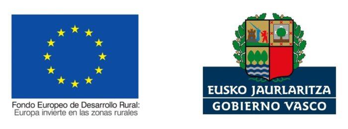 Logos FEADER y Gobierno Vasco