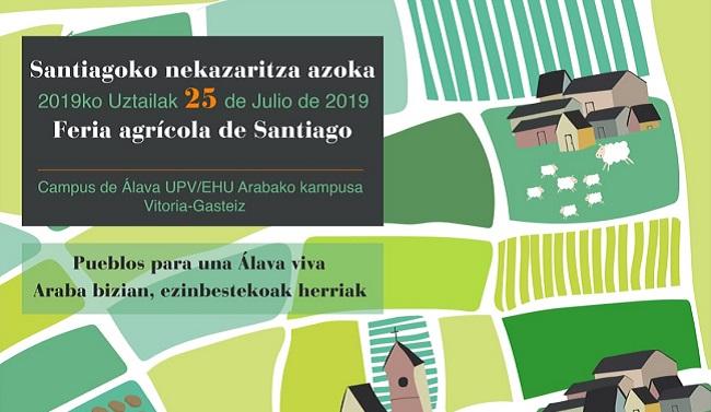 Cartel de la feria de Santiago 2019