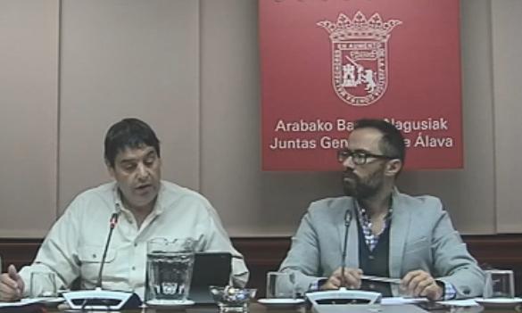 Javi Torre y Borja Monge en la comparecencia de UAGA