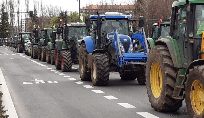 tractores en la manifestación