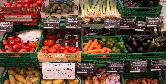 tienda de verduras
