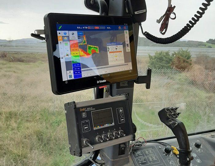 Tractor con ordenador incorporado
