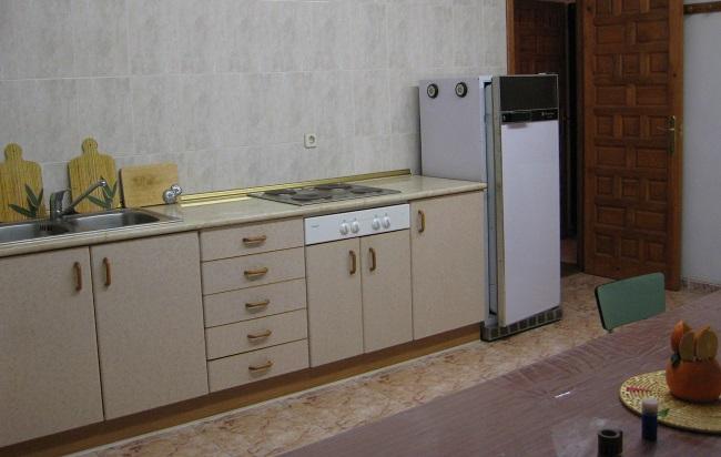 cocina de un alojamiento