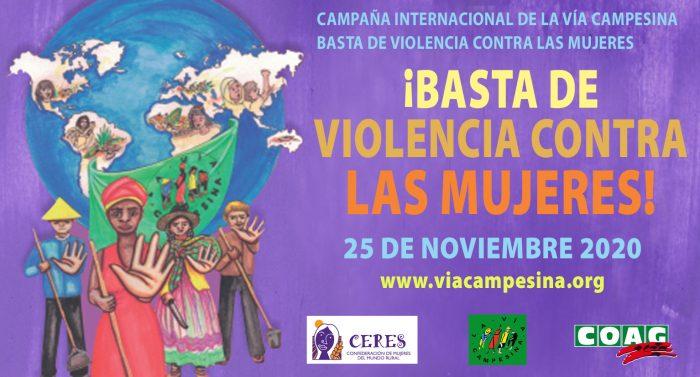 Cartel contra la violencia
