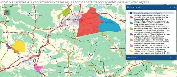 Mapa de las zonas vulnerables